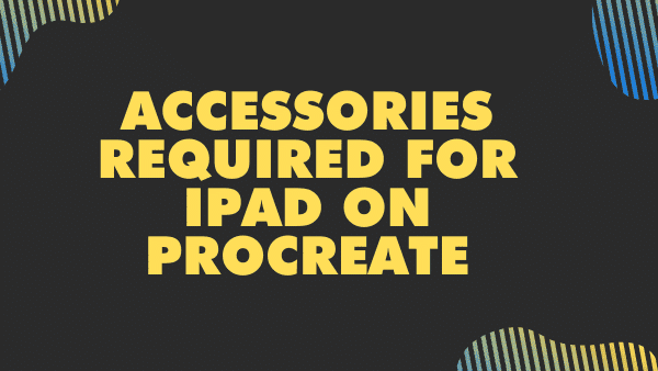 Accessories required for iPad on Procreate