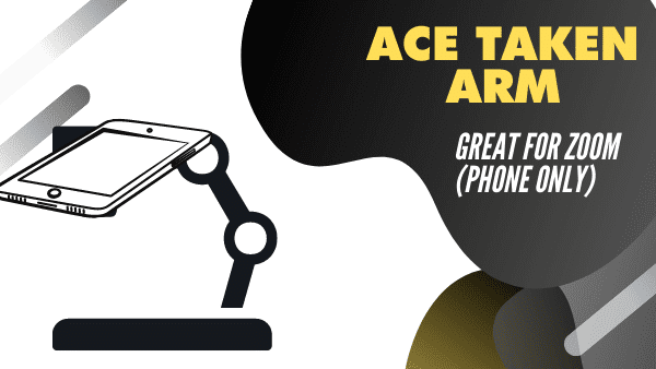 Acetaken Arm Best phone document camera stand for Zoom (Phone only)