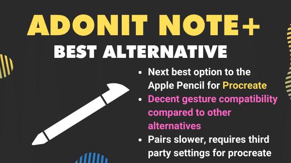 Adonit Note +_ Best Procreate Pen from Adonit (iPad stylus) alternative for procreate stylus