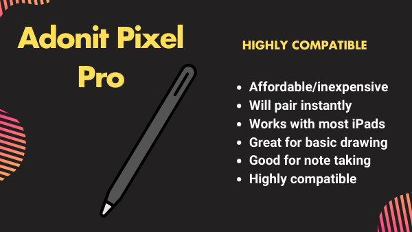 Adonit Pixel highly compatible with multiple iPad models