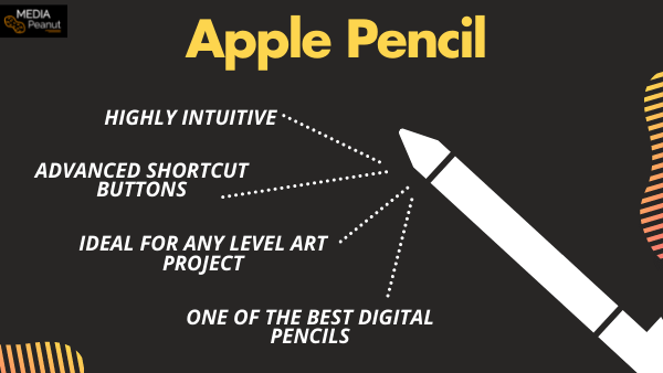 All about the Apple Pencil info graph chart benefits and features displayed