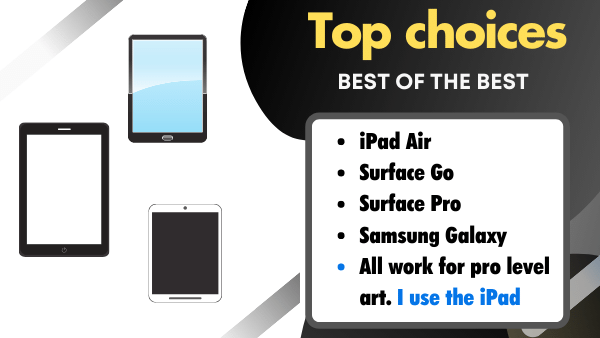 At a Glance list - Standalone Drawing Tablets that don't require a computer