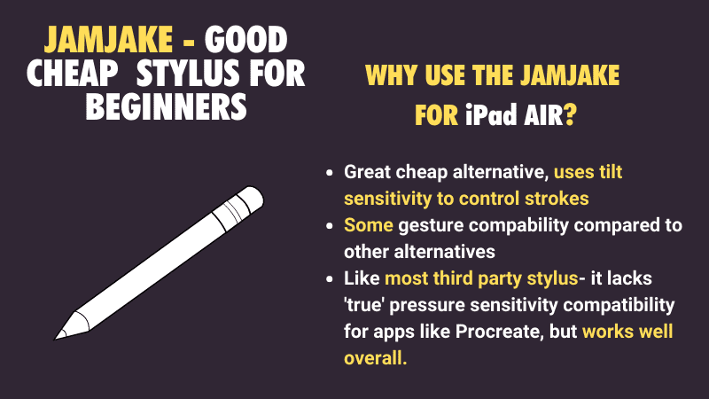 Best low cost alternative stylus pen to the Apple Pencil for the iPad Air 2