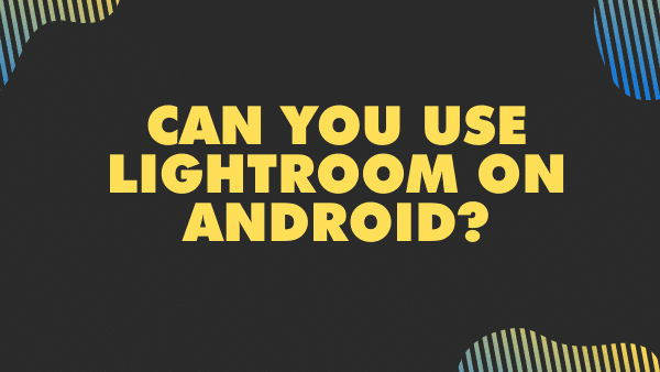 Can you use Lightroom on Android_