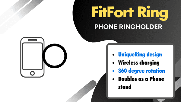 Fitfort Ring_ Best Samsung Galaxy Phone Hand Strap (works on most phones)