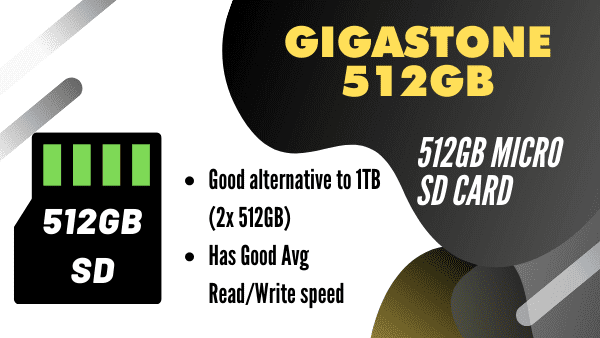 Gigastone 512GB_ Large capacity micro SD Card (most affordable)