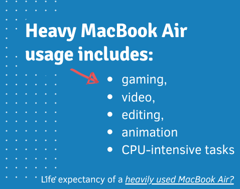 How long will a macbook air last with heavy use