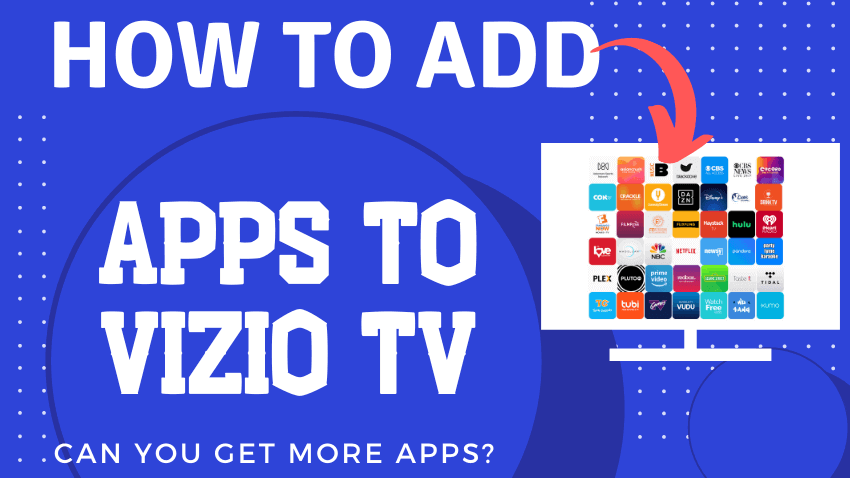 How to add apps to Vizio smart TV overall guide