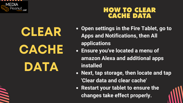 How to clear the cache data to fix the fire hd alexa app and other apps