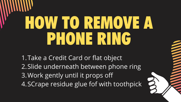 How to remove a Phone ring - Full step by step chart