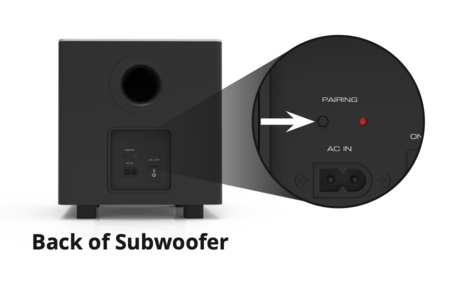 Pairing a Vizio Subwoofer to soundbar when not working connecting