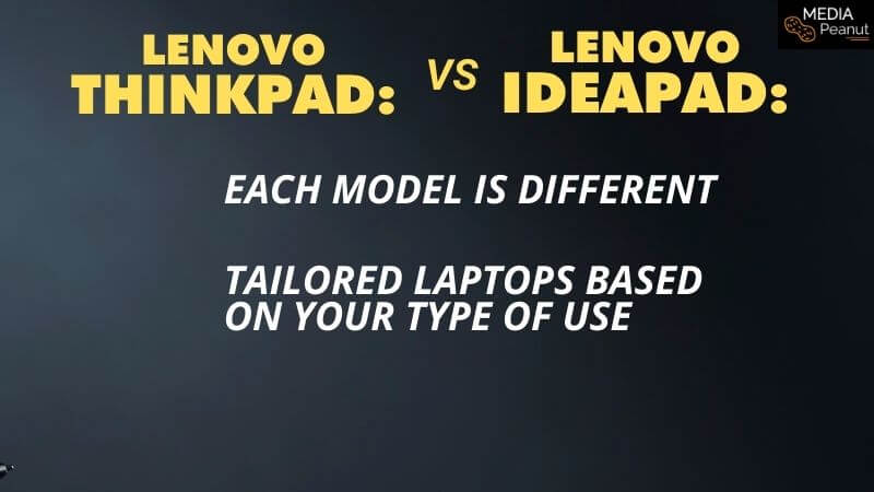 Ideapad and Thinkpad lenovo model and series comparison with charts