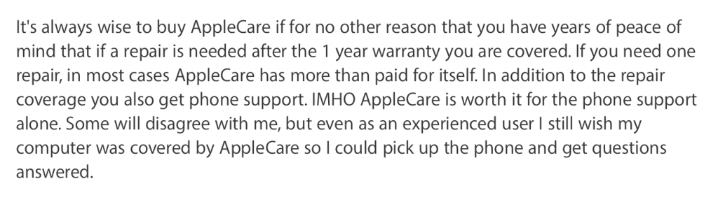 Is AppleCare worth it for iMac?