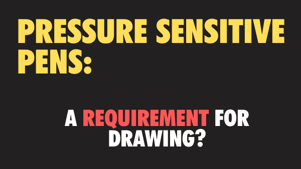 Is pressure sensitivity a requirement for drawing or writing on the iPad_