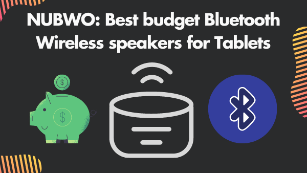 NUBWO_ Best budget Bluetooth Wireless speakers for Tablets (mini)