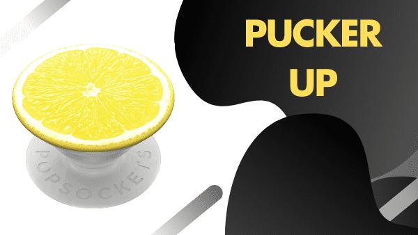 Pucker Up lemon popgrip pop socket