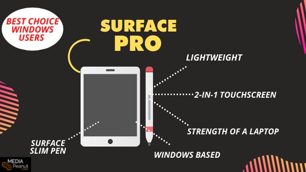 Surface Pro 7- Best Portable Drawing Tablet that Doesn't Need a Computer (windows)