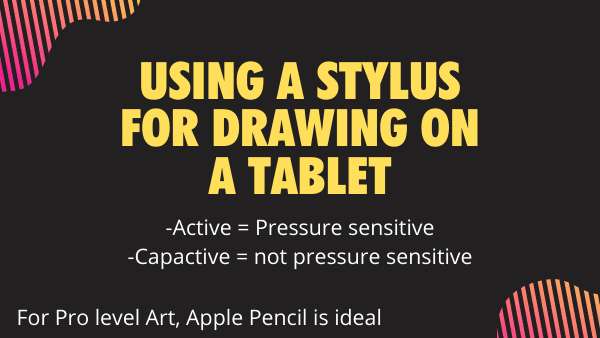 Using a Stylus for drawing on a Tablet - how to photo