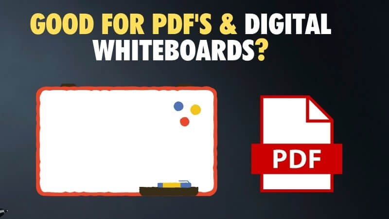 Using the Apple Pencil for pdf and digital whiteboards