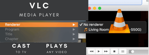 VLC how to cast for playing downloaded 4k movies on TV