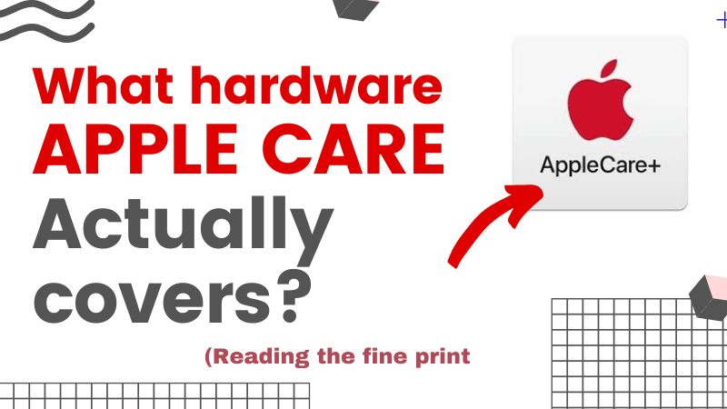 What accidental hardware damage does Applecare cover iMac