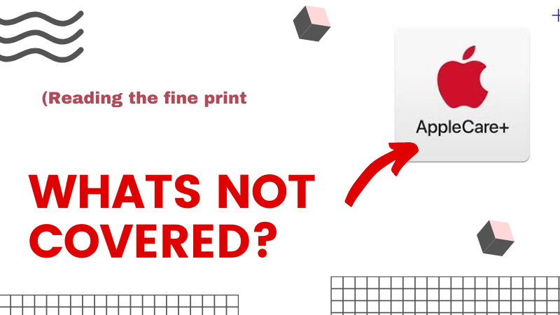 What is not covered under AppleCare for iMac