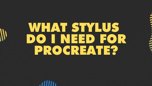 What stylus do I need for Procreate_