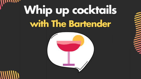 Whip up cocktails with The Bartender