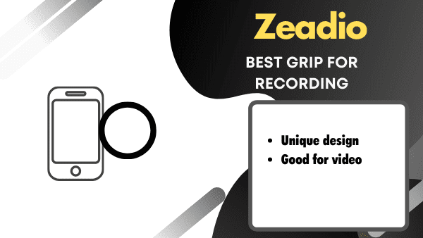 Zeadio Best Cheap Phone hand holder for Video Recording (iPhone & Android)