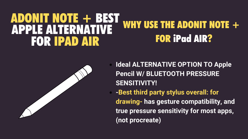 best overall stylus not Apple Pencil for drawing on iPad Air 2
