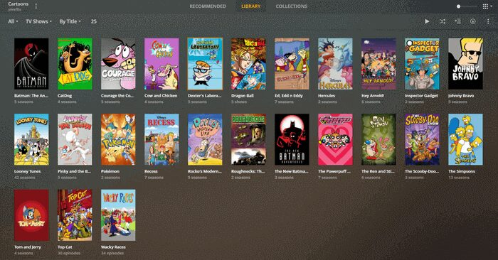 Example of a personal streaming service