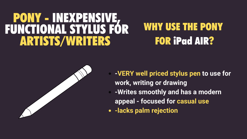 cheapest most low cost stylus for writing on the iPad Air and iPad models
