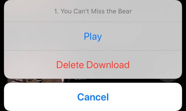 delete single netflix download