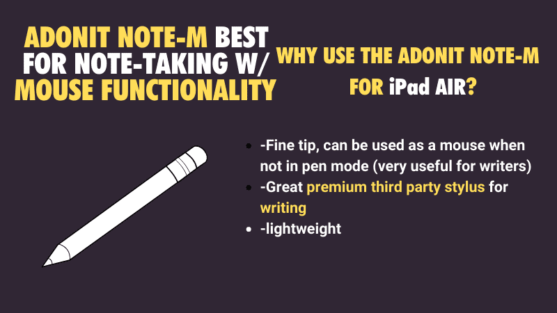good unique iPad Air stylus for note taking 2