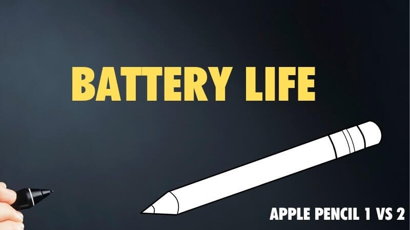 how long does the battery last on the Apple Pencil 2