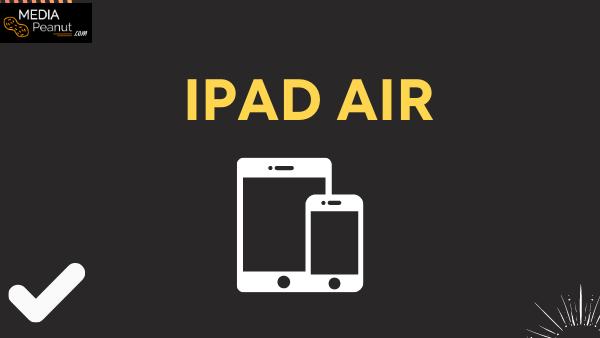 iPad Air Best lightweight tablet to watch Netflix (Car rides, flights)