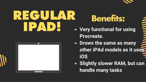 iPad (Standard) Best budget iPad for Procreate (under 400)