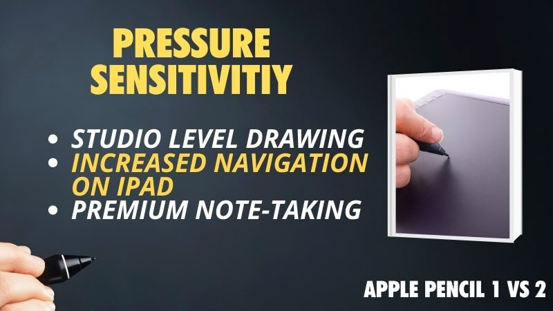 is the pressure sensitivity different between Apple Pencil 1 and Apple Pencil 2 gen 1 and 2