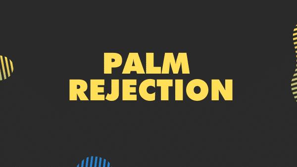 palm rejection procreate stylus feature